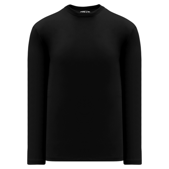 Athletic Knit (AK) V1900-001 Black Long Sleeve Volleyball Shirt