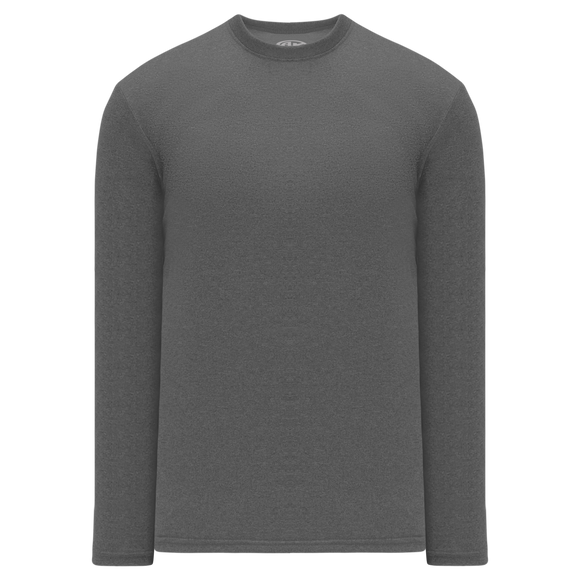 Athletic Knit (AK) V1900-021 Heather Charcoal Grey Long Sleeve Volleyball Shirt