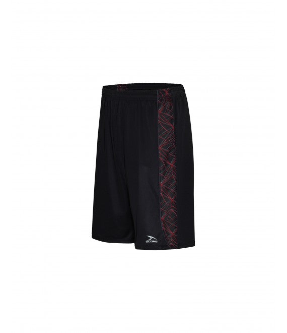 Score Sports Florida B1160 Black/Red/Charcoal Basketball Shorts