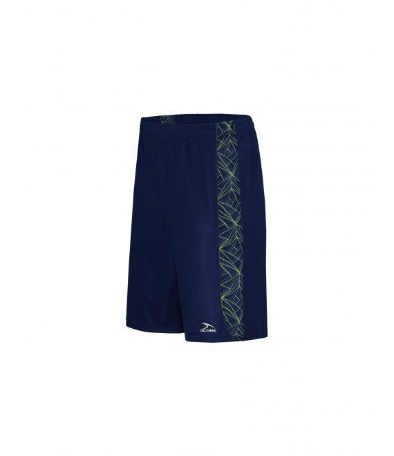 Score Sports Florida B1160 Navy/Lemon/Charcoal Basketball Shorts