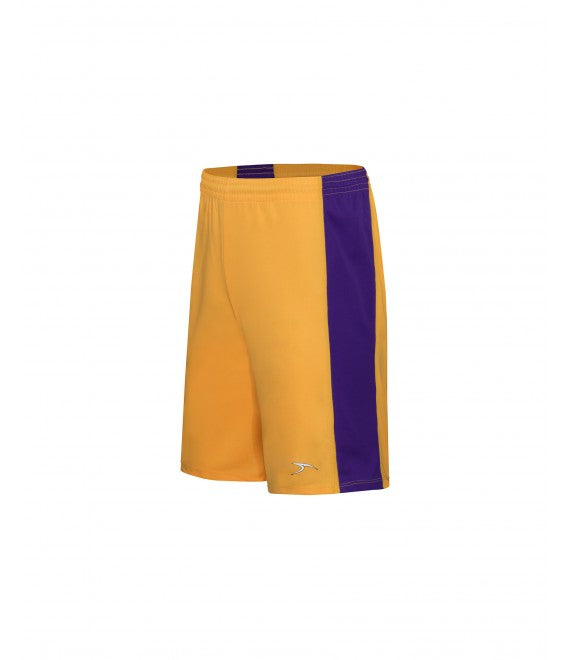 Score Sports Massachusetts B1195 Gold/Purple Basketball Shorts
