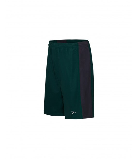 Score Sports Massachusetts B1195 Hunter Green/Charcoal Basketball Shorts