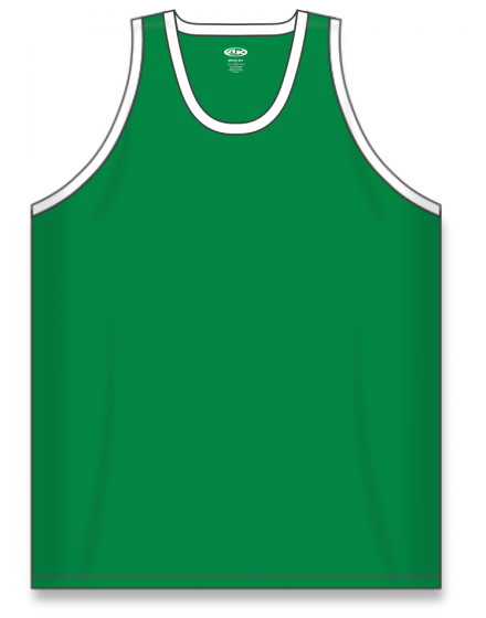 Athletic Knit (AK) B1325 Kelly Green/White League Basketball Jersey
