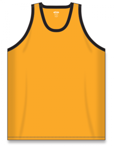 Athletic Knit (AK) B1325 Gold/Black League Basketball Jersey