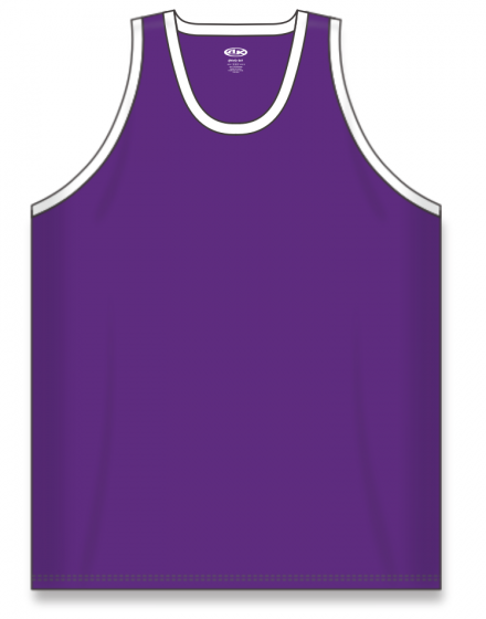 Athletic Knit (AK) B1325 Purple/White League Basketball Jersey