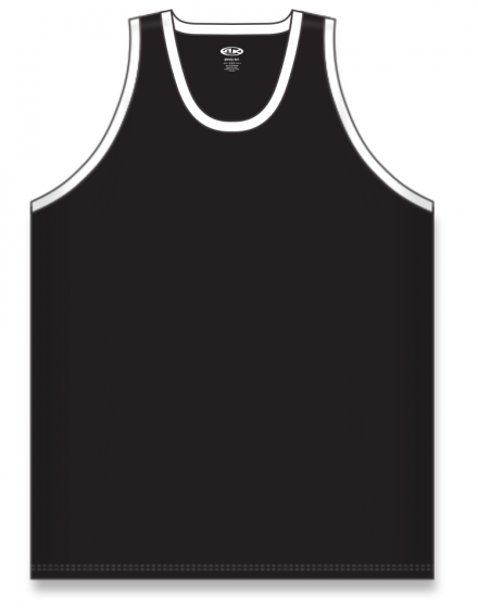 Athletic Knit (AK) B1325 Black/White League Basketball Jersey