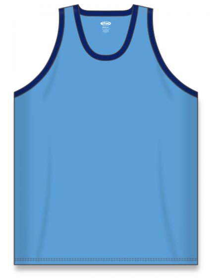 Athletic Knit (AK) B1325 Sky Blue/Navy League Basketball Jersey