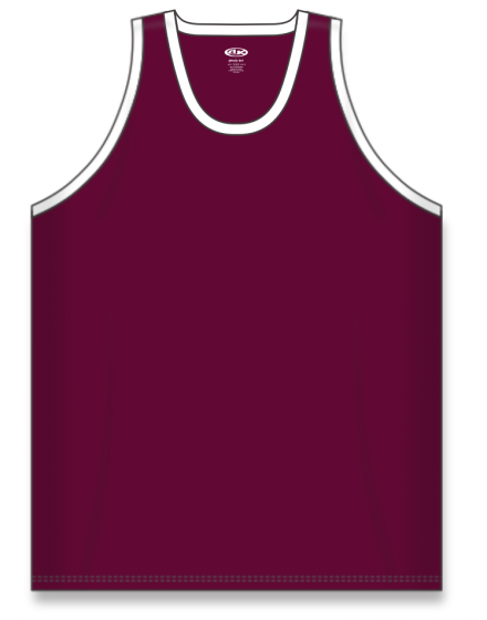 Athletic Knit (AK) B1325 Maroon/White League Basketball Jersey