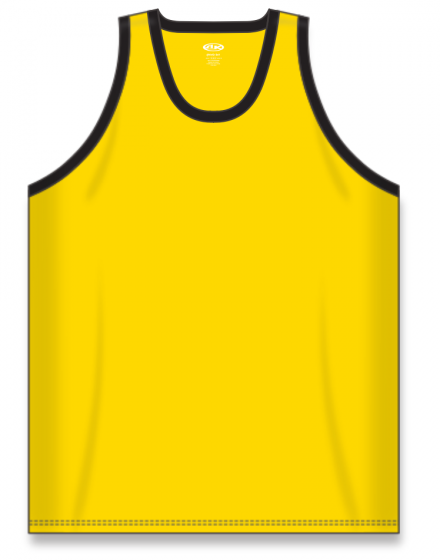Athletic Knit (AK) B1325 Maize/Black League Basketball Jersey