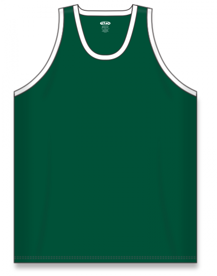 Athletic Knit (AK) B1325 Dark Green/White League Basketball Jersey