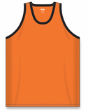 Athletic Knit (AK) B1325-263 Orange/Black League Basketball Jersey