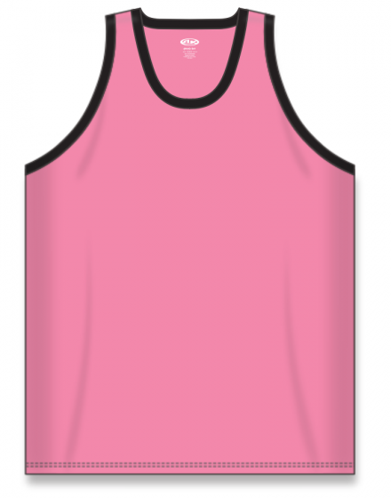 Athletic Knit (AK) B1325 Pink/Black League Basketball Jersey