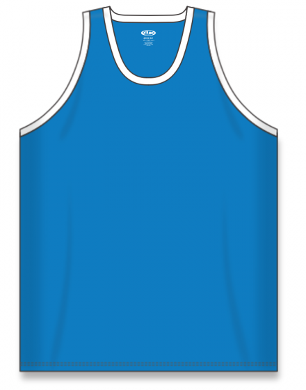 Athletic Knit (AK) B1325 Pro Blue/White League Basketball Jersey