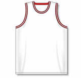 Athletic Knit (AK) B1710 White/Red/Black Pro Basketball Jersey
