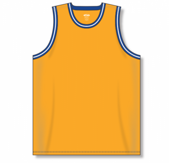 Athletic Knit (AK) B1710 Gold/Royal Blue/White Pro Basketball Jersey