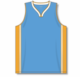 Athletic Knit (AK) B1715 Sky Blue/Gold/White Pro Basketball Jersey