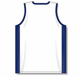 Athletic Knit (AK) B2115-217 White/Navy Pro Basketball Jersey