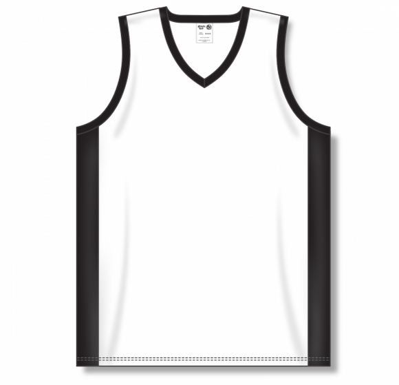 Athletic Knit (AK) B2115 White/Black Pro Basketball Jersey