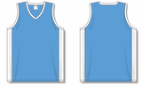 Athletic Knit (AK) B2115-227 Sky Blue/White Pro Basketball Jersey