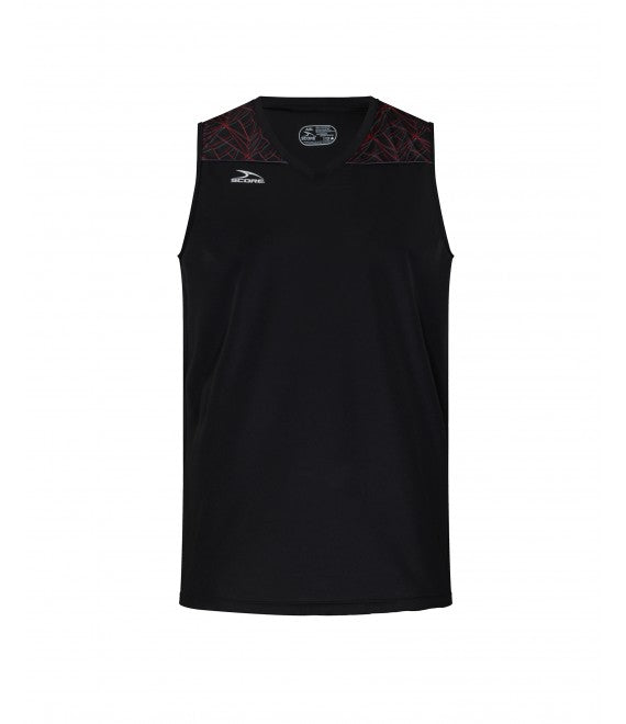 Score Sports Orlando B285 Black/Red/Charcoal Basketball Jersey