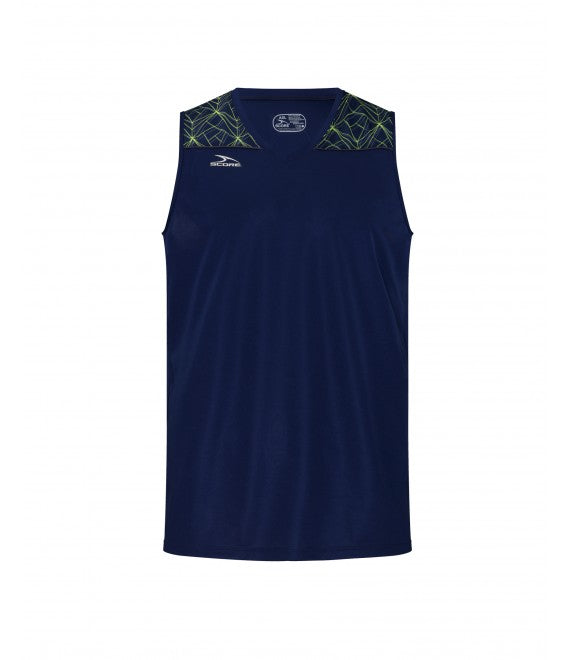 Score Sports Orlando B285 Navy/Lemon/Charcoal Basketball Jersey