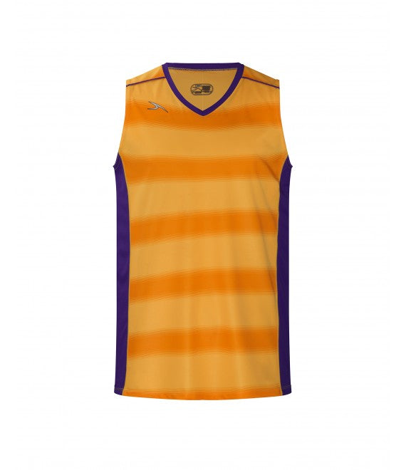 Score Sports Boston B395 Gold/Purple Basketball Jersey