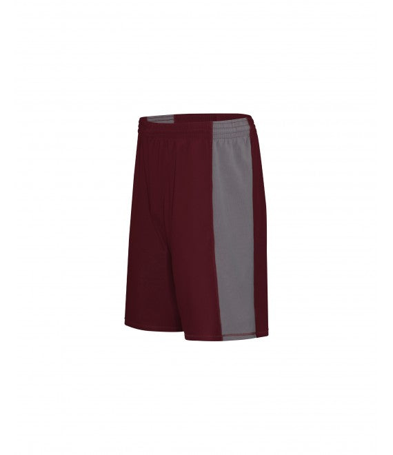 Score Sports Roswell B485 Burgundy/Silver Basketball Shorts