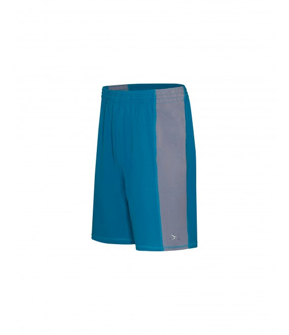 Score Sports Roswell B485 Turquoise/Silver Basketball Shorts