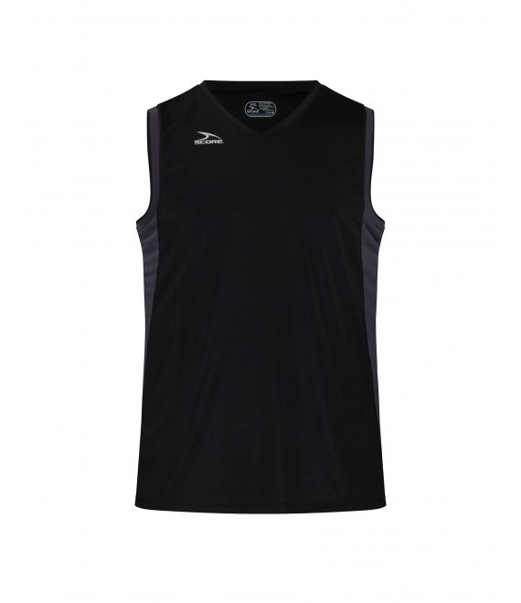 Score Sports Seattle B555 Black/Charcoal/Black Basketball Jersey