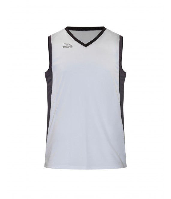 Score Sports Seattle B555 White/Charcoal/Black Basketball Jersey
