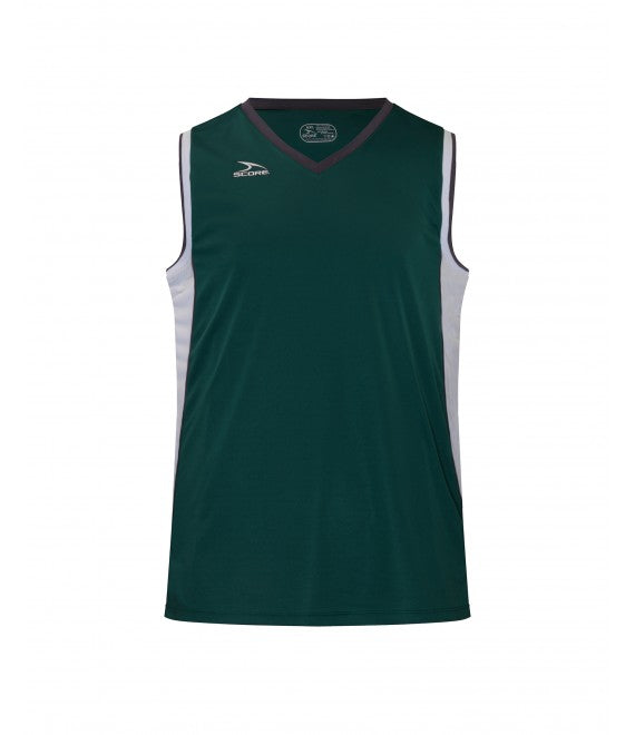 Score Sports Seattle B555 Hunter Green/White/Charcoal Basketball Jersey