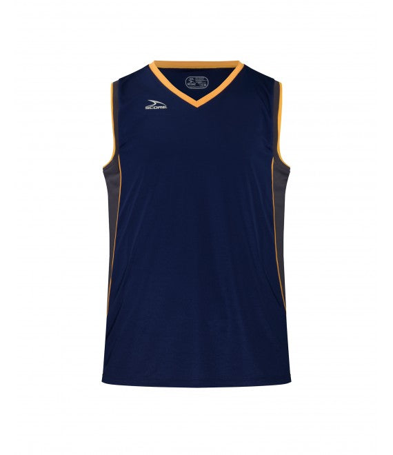 Score Sports Seattle B555 Navy/Charcoal/Gold Basketball Jersey