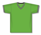 Athletic Knit (AK) BA1333-107 Lime Green/Black/White Pullover Baseball Jersey