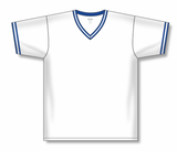 Athletic Knit (AK) BA1333A-207 Adult White/Royal Blue Pullover Baseball Jersey