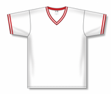 Athletic Knit (AK) BA1333 White/Red Pullover Baseball Jersey