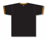 Athletic Knit (AK) BA1333A-212 Adult Black/Gold Pullover Baseball Jersey