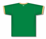 Athletic Knit (AK) BA1333 Kelly Green/Gold/White Pullover Baseball Jersey