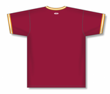 Athletic Knit (AK) BA1333 AV Red/Gold/White Pullover Baseball Jersey