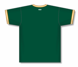 Athletic Knit (AK) BA1333 Dark Green/Gold/White Pullover Baseball Jersey