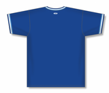 Athletic Knit (AK) BA1333A-445 Adult Royal Blue/Sky Blue/White Pullover Baseball Jersey