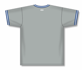 Athletic Knit (AK) BA1333 Grey/Royal Blue/White Pullover Baseball Jersey