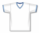 Athletic Knit (AK) BA1333A-462 Adult White/Sky Blue/Royal Blue Pullover Baseball Jersey