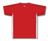 Athletic Knit (AK) BA1343A-208 Adult Red/White One-Button Baseball Jersey