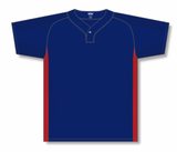 Athletic Knit (AK) BA1343A-285 Adult Navy/Red One-Button Baseball Jersey