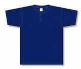 Athletic Knit (AK) BA1347-004 Navy Two-Button Baseball Jersey