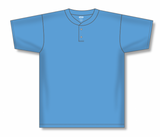Athletic Knit (AK) BA1347-018 Sky Blue Two-Button Baseball Jersey
