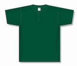 Athletic Knit (AK) BA1347-029 Dark Green Two-Button Baseball Jersey