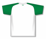 Athletic Knit (AK) BA1375-211 White/Kelly Green Pullover Baseball Jersey