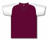 Athletic Knit (AK) BA1375-233 Maroon/White Pullover Baseball Jersey