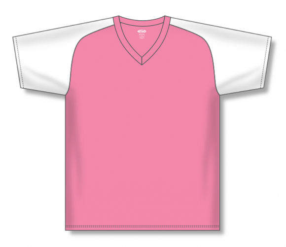 Athletic Knit (AK) BA1375 Pink/White Pullover Baseball Jersey